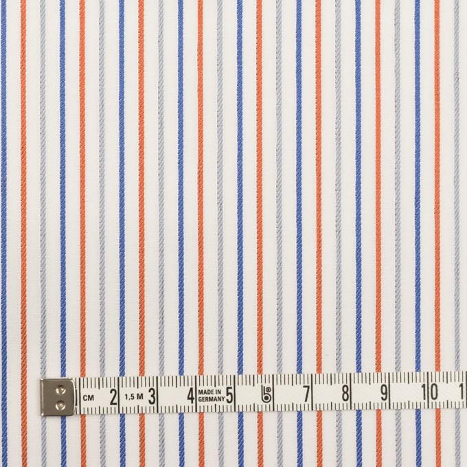 コットン×ストライプ(アッシュブラウン+オレンジ&ブルー)×ブロードジャガード_全2色 イメージ6