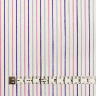 コットン×ストライプ(チャコール+ピンク&パープル)×ブロードジャガード_全2色 サムネイル6