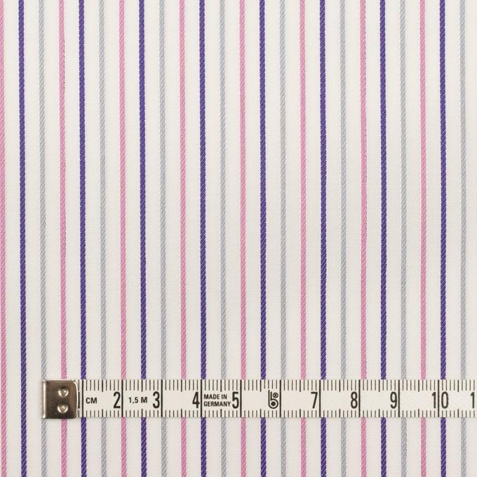 コットン×ストライプ(チャコール+ピンク&パープル)×ブロードジャガード_全2色 イメージ6