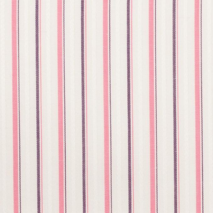 コットン×ストライプ(ピンク)×ブロードジャガード_全2色 イメージ1