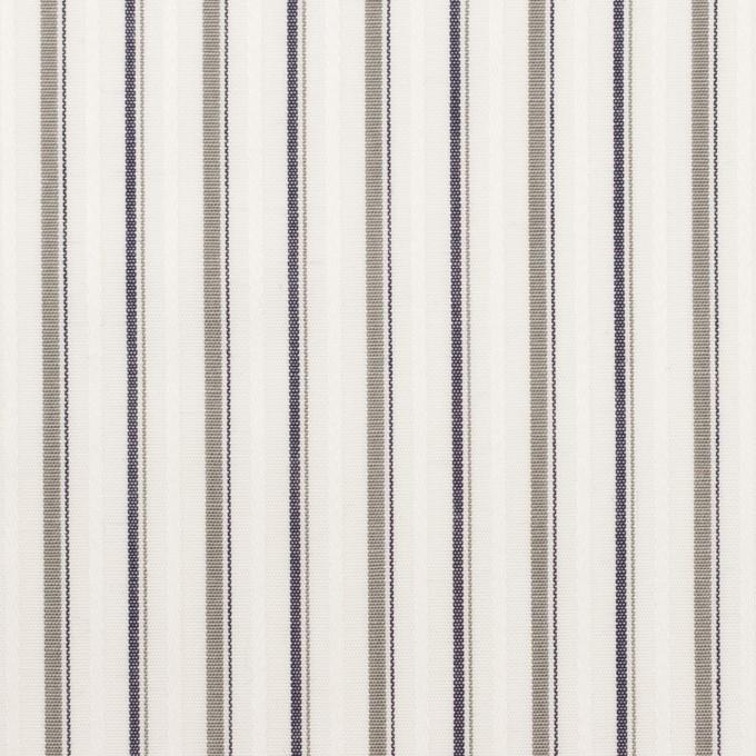 コットン×ストライプ(グレー)×ブロードジャガード_全2色 イメージ1