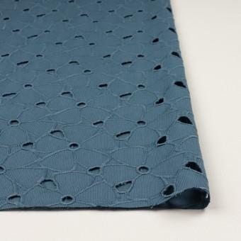 コットン×フラワー(アッシュブルー)×ピケ刺繍 サムネイル3