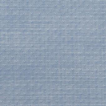 コットン×小紋(アッシュブルー)×シャンブレー・ドビー サムネイル1