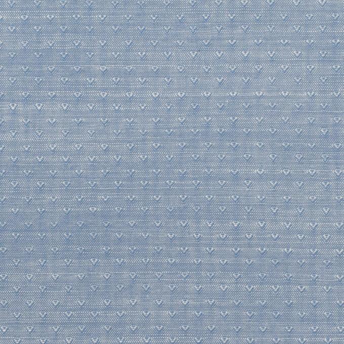 コットン×小紋(アッシュブルー)×シャンブレー・ドビー イメージ1