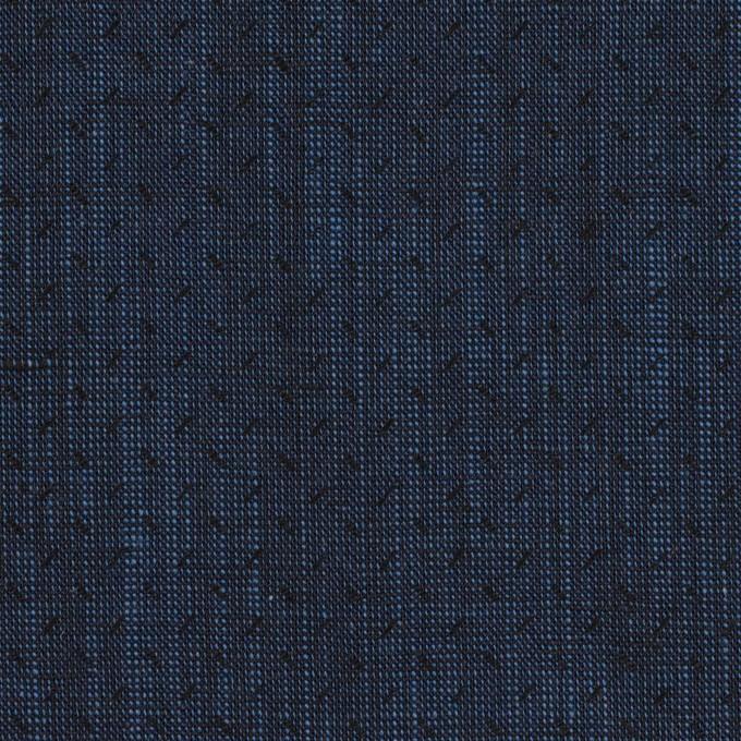 コットン×小紋(ネイビー)×シャンブレー・ドビー イメージ1