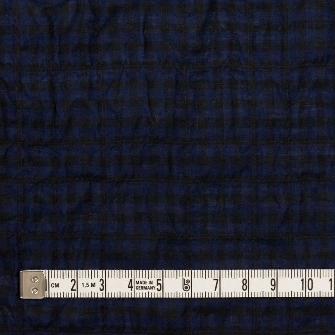 コットン&ポリウレタン×チェック(プルシアンブルー&ブラック)×ボイルシャーリング イメージ4