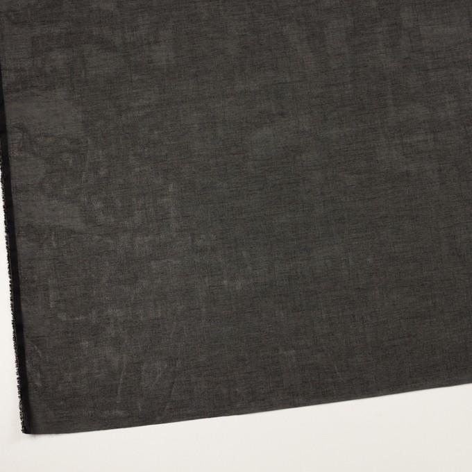 コットン×無地(ブラック)×オーガンジー イメージ2
