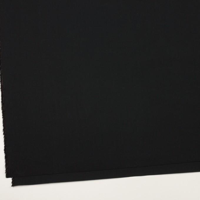 コットン×無地(ブラック)×タイプライター(高密ローン)・ワッシャー イメージ2