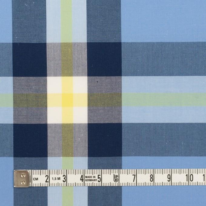 コットン×チェック(ライトブルー、ネイビー&イエロー)×ブロード イメージ4