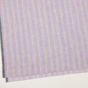 リネン&コットン×ストライプ(グレイッシュベージュ、ピンク&ブルー)×薄キャンバス サムネイル2