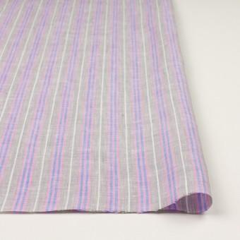 リネン&コットン×ストライプ(グレイッシュベージュ、ピンク&ブルー)×薄キャンバス サムネイル3