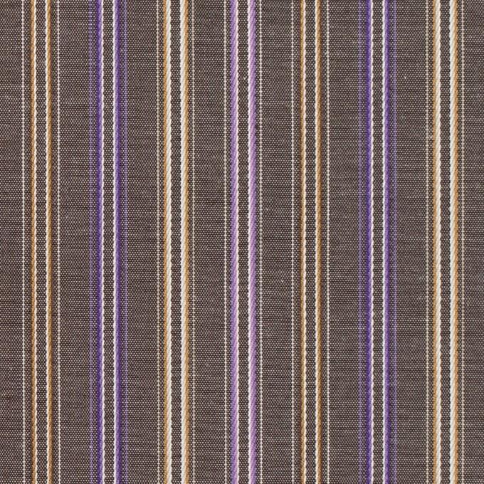コットン×ストライプ(アッシュブラウン、ベージュ&パープル)×ブロードジャガード イメージ1
