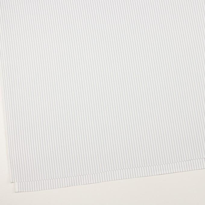 コットン×ストライプ(シルバーグレー)×斜子織_全2色 イメージ2