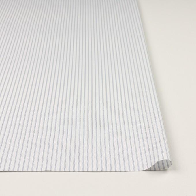 コットン×ストライプ(シルバーグレー)×斜子織_全2色 イメージ3