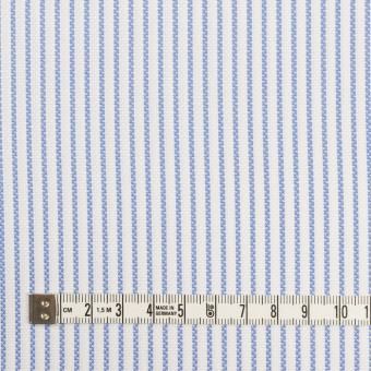コットン×ストライプ(ブルー)×斜子織_全2色 サムネイル4