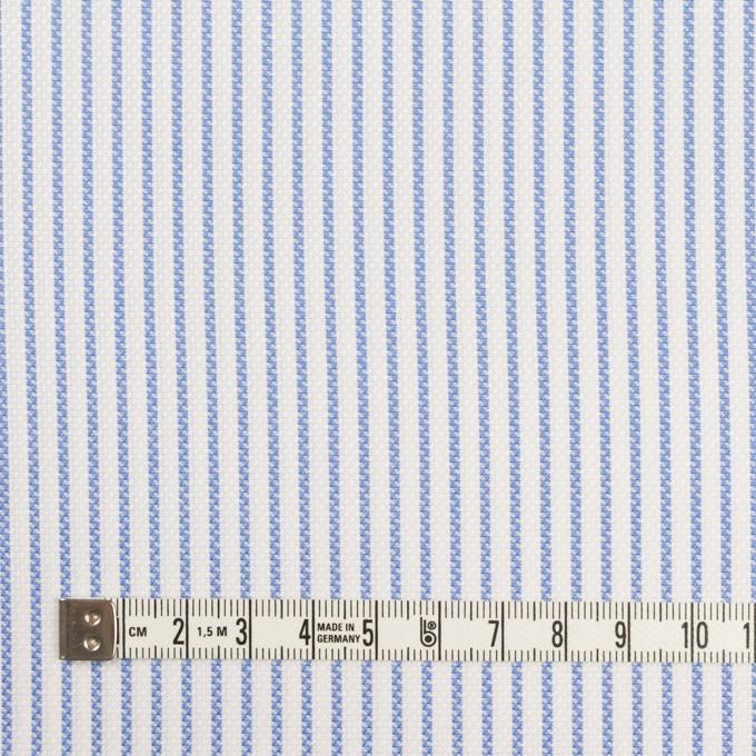 コットン×ストライプ(ブルー)×斜子織_全2色 イメージ4
