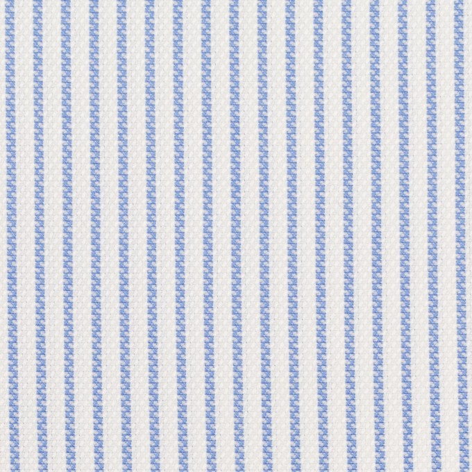 コットン×ストライプ(ブルー)×斜子織_全2色 イメージ1