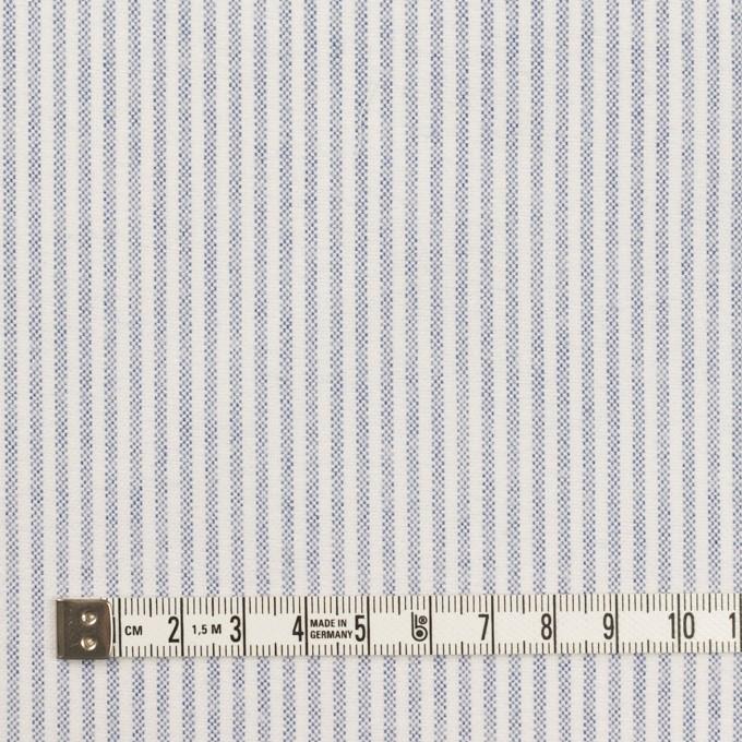 コットン×ストライプ(ブルー)×オックスフォード イメージ4