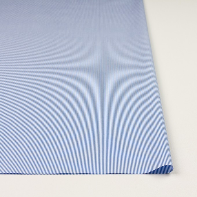 コットン×ストライプ(ブルー)×ブロード イメージ3