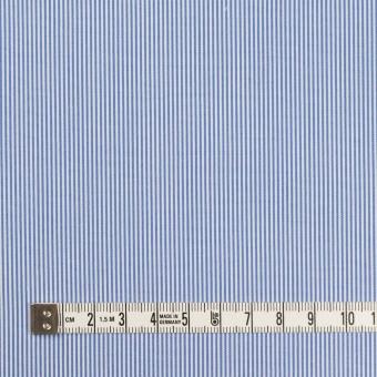 コットン×ストライプ(ブルー)×ブロード サムネイル4