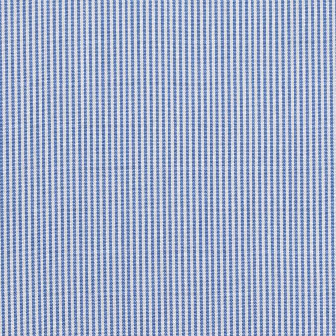 コットン×ストライプ(ブルー)×ブロード イメージ1