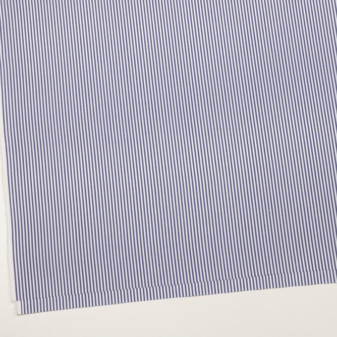 コットン&ポリエステル×ストライプ(ネイビー)×ブロード イメージ2
