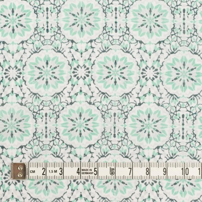 ポリエステル×幾何学模様(シャーベットグリーン)×ジョーゼット・ジャガード イメージ4