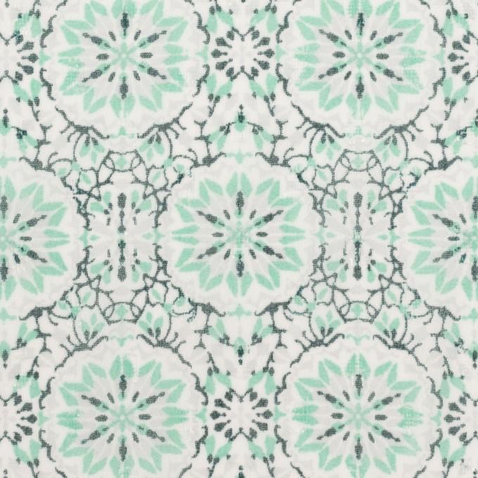 ポリエステル×幾何学模様(シャーベットグリーン)×ジョーゼット・ジャガード イメージ1