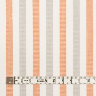 コットン×ストライプ(グレー&オレンジ)×ブロード サムネイル4