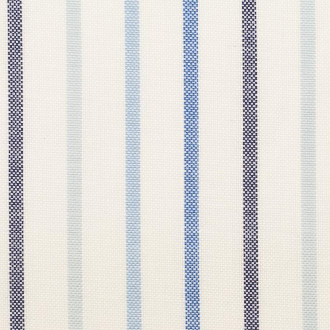 コットン×ストライプ(ブルー&ネイビー)×オックスフォード イメージ1