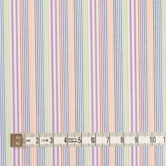 コットン×ストライプ(パープル、オレンジ&イエローグリーン)×ブロード サムネイル4