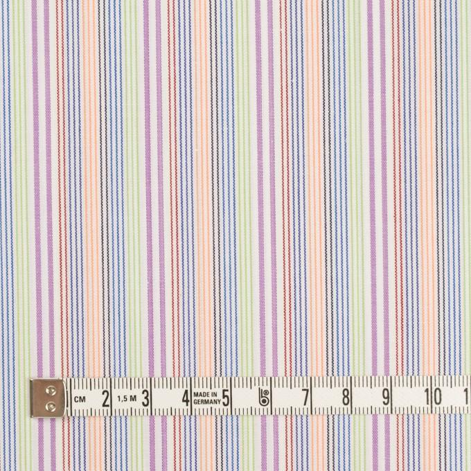 コットン×ストライプ(パープル、オレンジ&イエローグリーン)×ブロード イメージ4