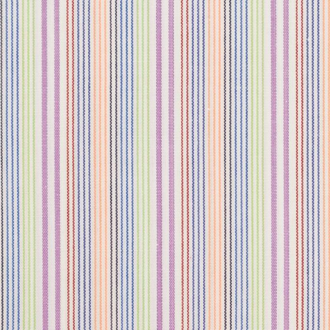 コットン×ストライプ(パープル、オレンジ&イエローグリーン)×ブロード イメージ1