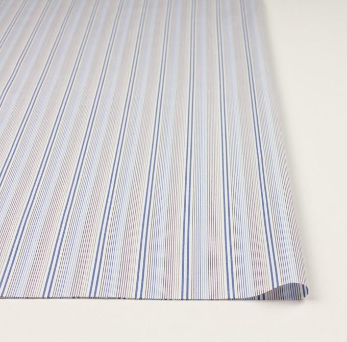 コットン×ストライプ(ブルー、サックス&カーキ)×ブロード イメージ3