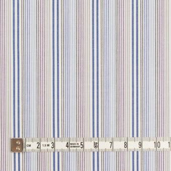 コットン×ストライプ(ブルー、サックス&カーキ)×ブロード サムネイル4