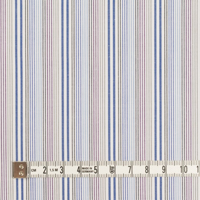 コットン×ストライプ(ブルー、サックス&カーキ)×ブロード イメージ4