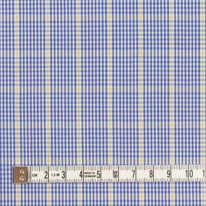 コットン×チェック(ブルー&マスタード)×ブロード イメージ4