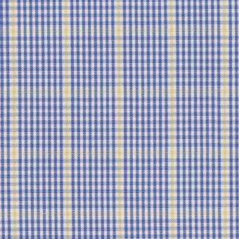 コットン×チェック(ブルー&マスタード)×ブロード サムネイル1