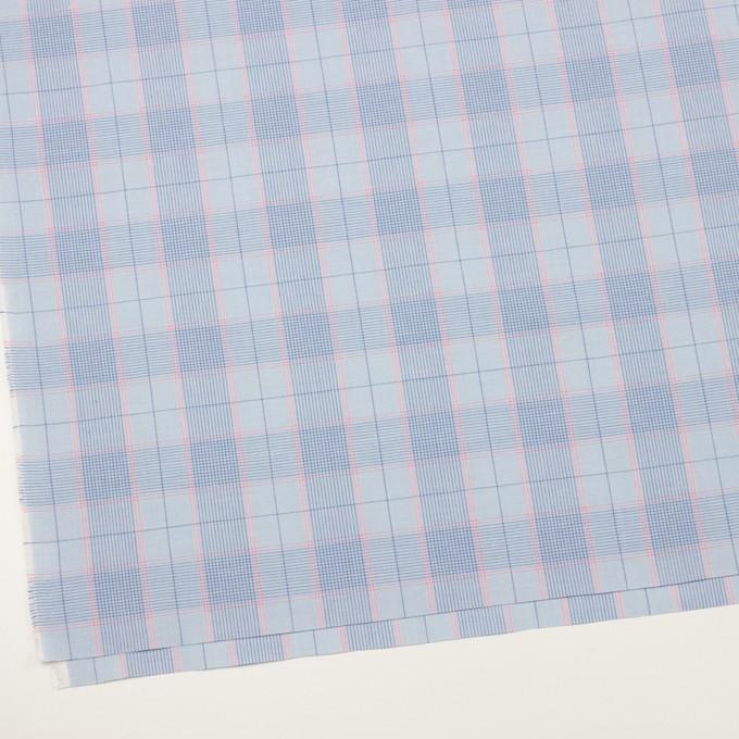 コットン×チェック(サックス、ブルー&チェリー)×シーチング イメージ2