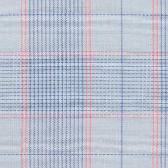 コットン×チェック(サックス、ブルー&チェリー)×シーチング サムネイル1