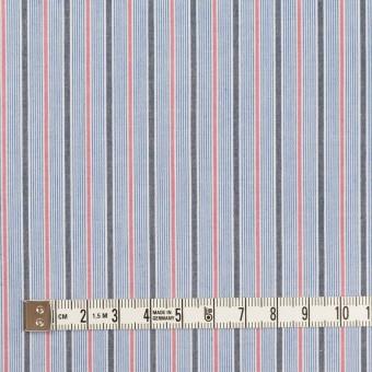 コットン×ストライプ(ブルー、チャコール&チェリー)×ブロード サムネイル4