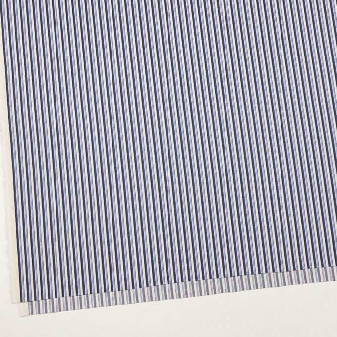 コットン×ストライプ(ヒヤシンスブルー&ネイビー)×ブロードジャガード イメージ2