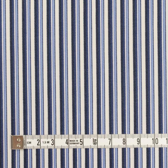 コットン×ストライプ(ヒヤシンスブルー&ネイビー)×ブロードジャガード イメージ4