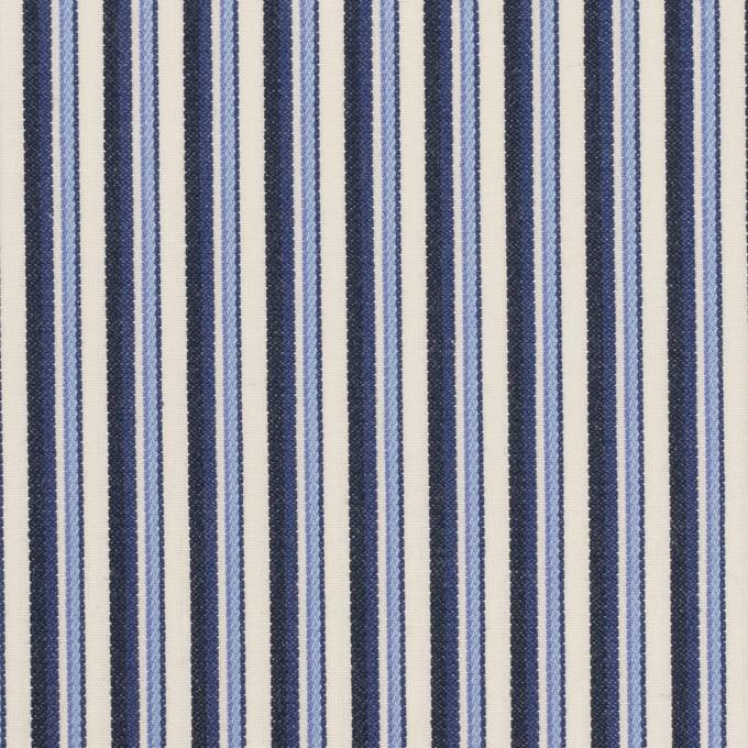 コットン×ストライプ(ヒヤシンスブルー&ネイビー)×ブロードジャガード イメージ1