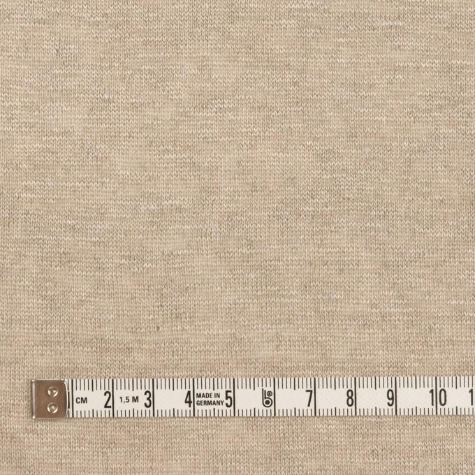 リネン×無地(グレイッシュベージュ)×天竺ニット イメージ4