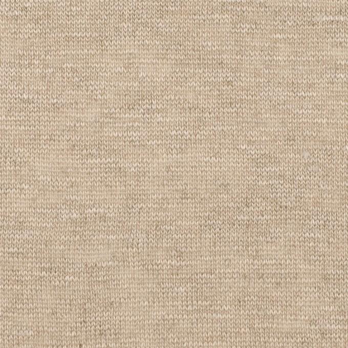 リネン×無地(グレイッシュベージュ)×天竺ニット イメージ1