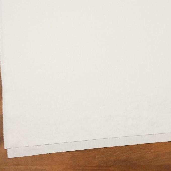 リネン&ポリエステル×無地(オフホワイト)×サージストレッチ_全7色 イメージ2