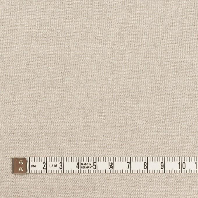リネン&ポリエステル×無地(グレイッシュベージュ)×サージストレッチ_全7色 イメージ4