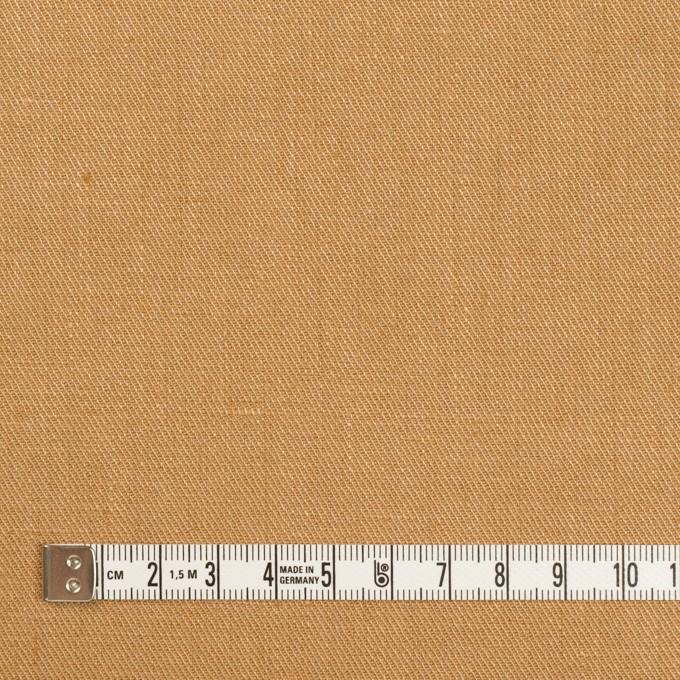 リネン&ポリエステル×無地(キャメル)×サージストレッチ_全7色 イメージ4