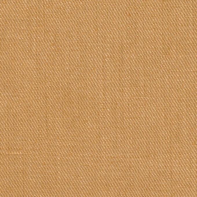 リネン&ポリエステル×無地(キャメル)×サージストレッチ_全7色 イメージ1